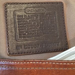 Coach Bags - Coach leather hobo bag with tassel